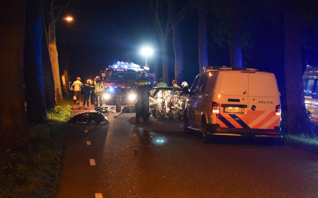 Automobilist raakt (zwaar)gewond bij eenzijdig auto ongeluk in het buitengebied van Laag-Keppel