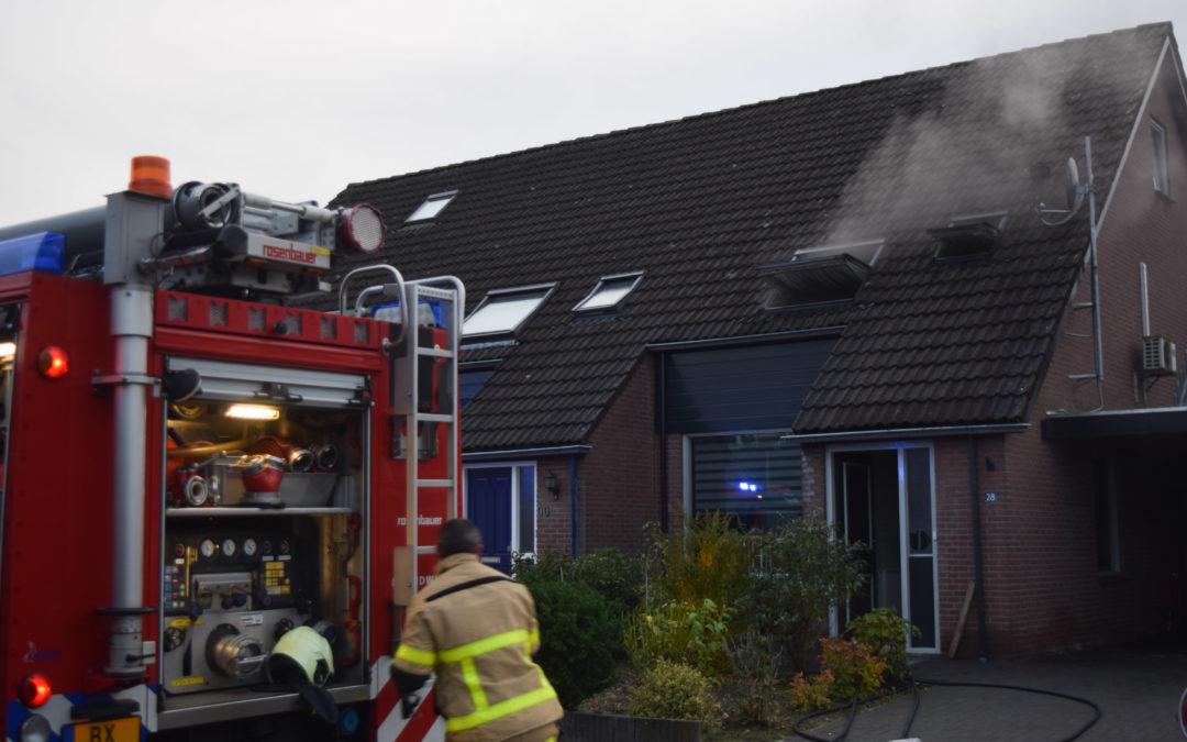 Wasdroger in woning vliegt in brand, bewoners niet thuis