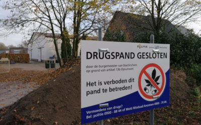 Drugspanden in Doetinchem op last van burgemeester gesloten
